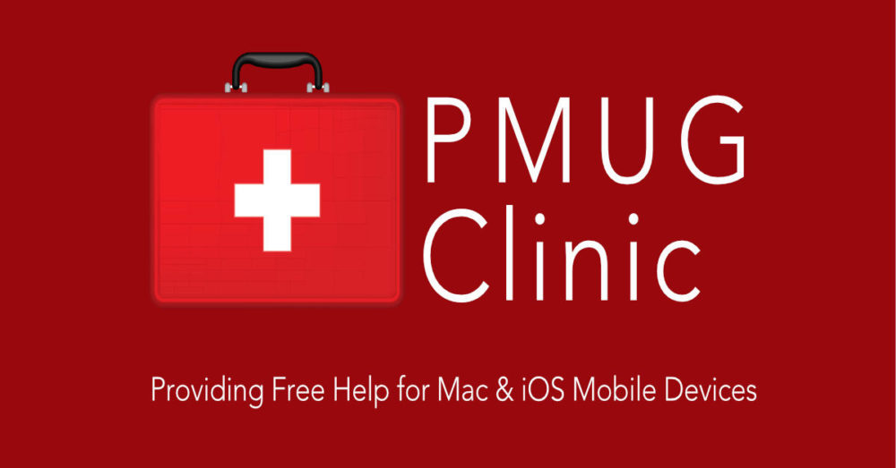 PMUG Clinic Logo, providing Free Help for Mac and IOS Mobile Devices