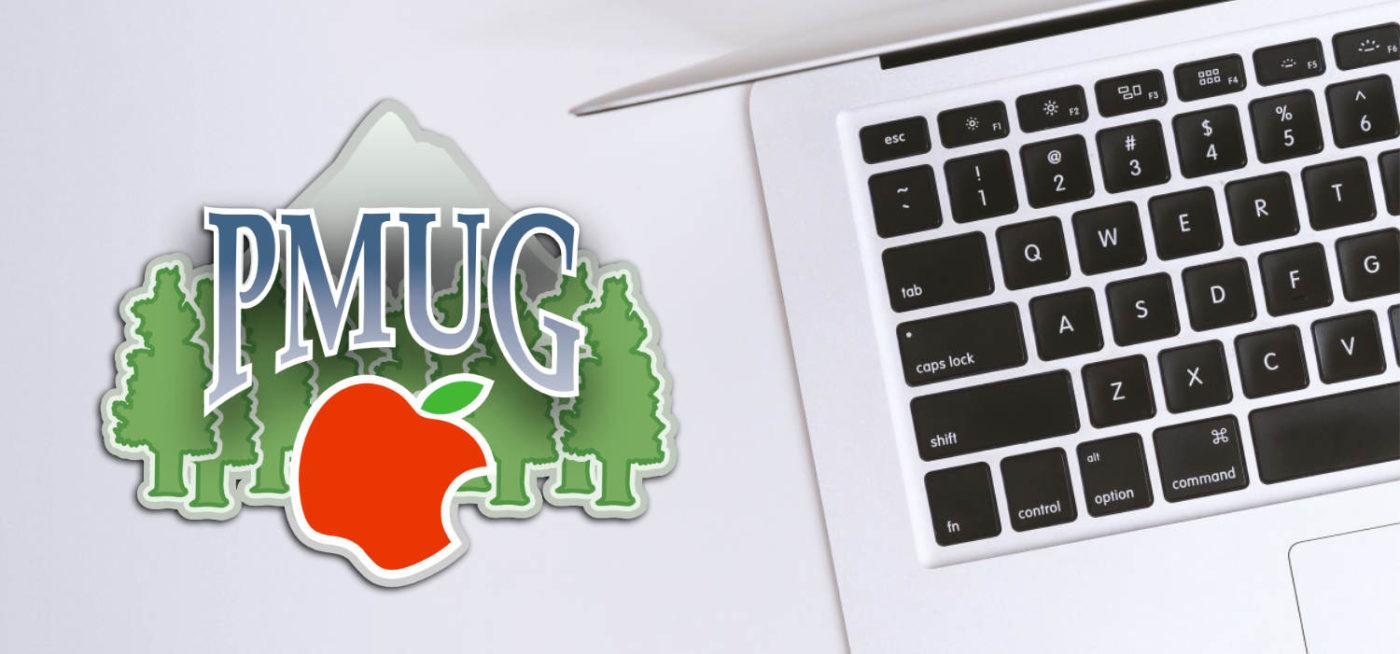 PMUG Logo next to a Mac Book Pro